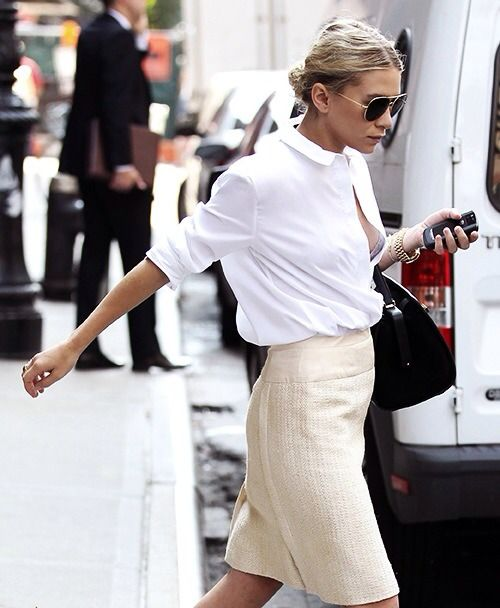 nycstreet-style:  Mary Kate Olsen Something I could wear to work and still look awesome.