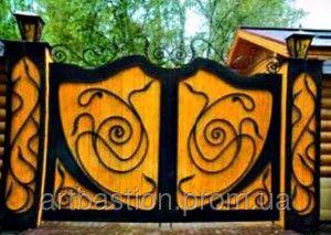 Деревянные ворота с элементами ковки своими руками описание и фото
