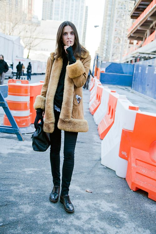 Ruby Aldridge, camel suede