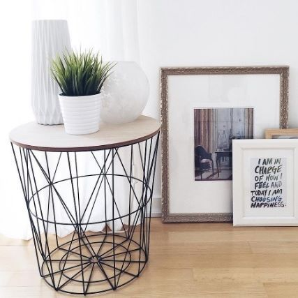 Our side table Malmö is a real eye-catcher for the living room! @senadica thought the same thing! By the way, the lid is removable so you can create extra storage space. #xenosdeutschland #well #table #korb # furnishing #instahome #germaninteriorbloggers #deko #dekoration #endistisch #homesweethome