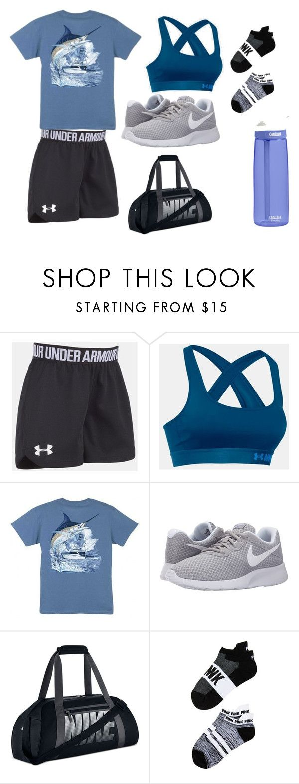 Workouts by shelbylyn-133 on Polyvore featuring Victoria's Secret, NIKE, Under Armour, Guy Harvey and CamelBak