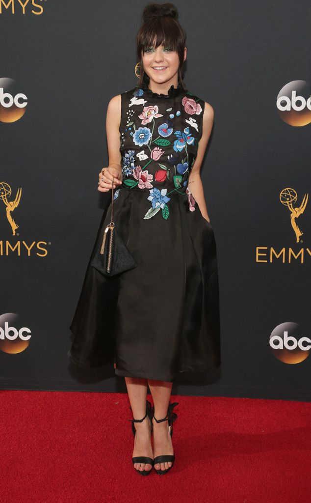 Maisie Williams from 2016 Emmys Red Carpet Arrivals  In Markus Lupfer