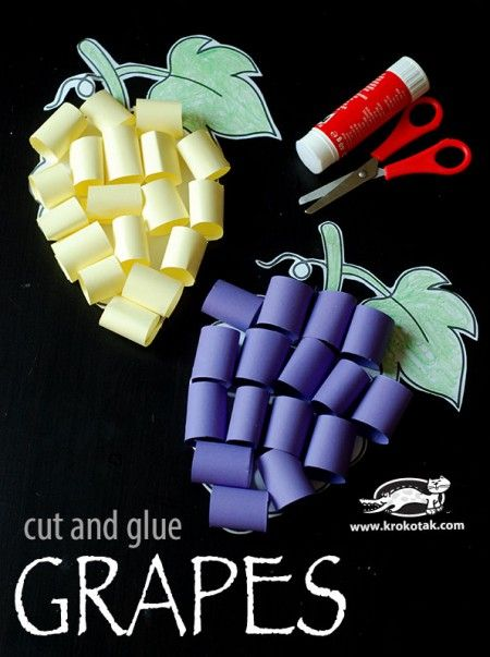 Grapes – cut and glue