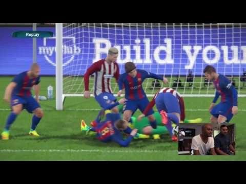 PES 2017: 15 mins. Gameplay FC Barcelona vs Atletico Madrid