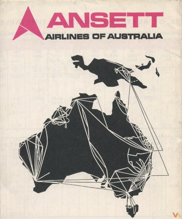 Ansett Australia Route Map, 1973 -- Dave Harris https://www.facebook.com/VintageAirliners