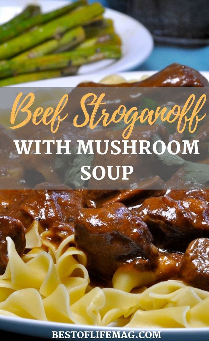 Enjoy This Easy Beef Stroganoff Crockpot Recipe For A Weeknight Meal Or With Guests The Golden Mush Delicious Dinner Recipes Beef Recipes Golden Mushroom Soup