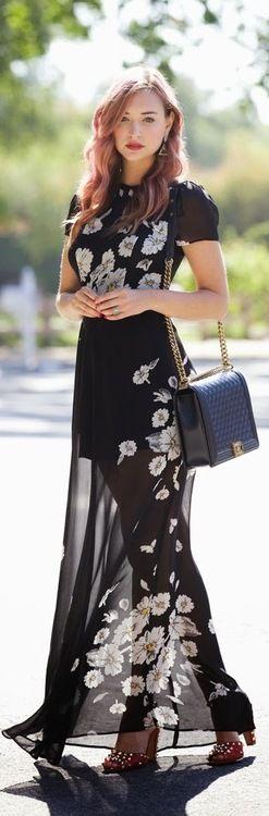 Stunning black sheer dress