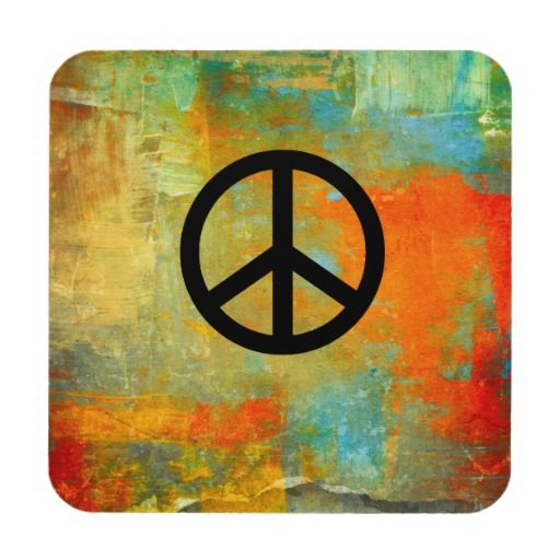 Painted Peace Coasters  #peacesymbol #peace #coasters