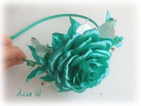 Роза из атласной ленты / D.I.Y. Rose of Satin ribbon - YouTube