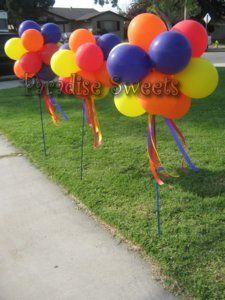 4th of July ideas-Balloon toparies | Balloons | Decor | Outdoor