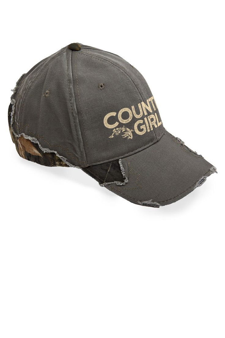 Country Girl® Frayed Camo Cap - Country Fashion Clothing
