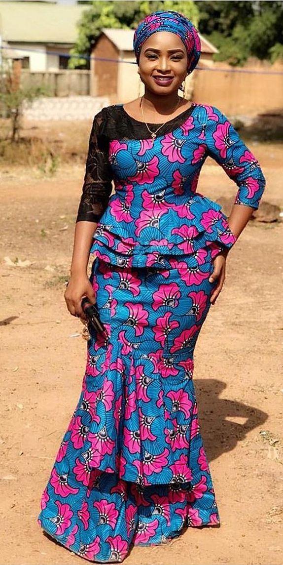 Ankara lace kaba and slit fashion, African fashion, Ankara, kitenge, African women dresses, African prints, African men's fashion, Nigerian style, Ghanaian fashion, ntoma, kente styles, African fashion dresses, aso ebi styles, gele, duku, khanga, krobo beads, xhosa fashion, agbada, west african kaftan #Womendresses