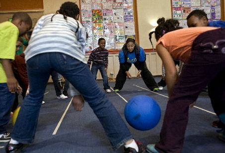 Bridge Ball is a fun game to get kids active indoors in small spaces
