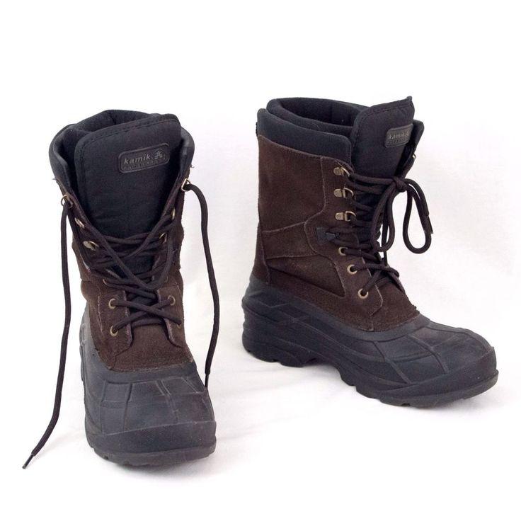 Kamik Winter Boots NationPlus Waterproof Mens Size 10 EU 43 #Kamik #SnowWinter