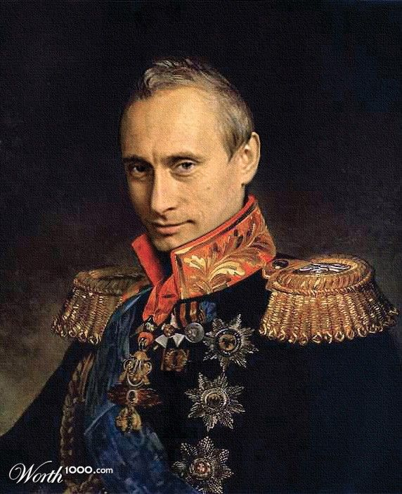 Celebrities in Classic Paintings - Vladimir Putin