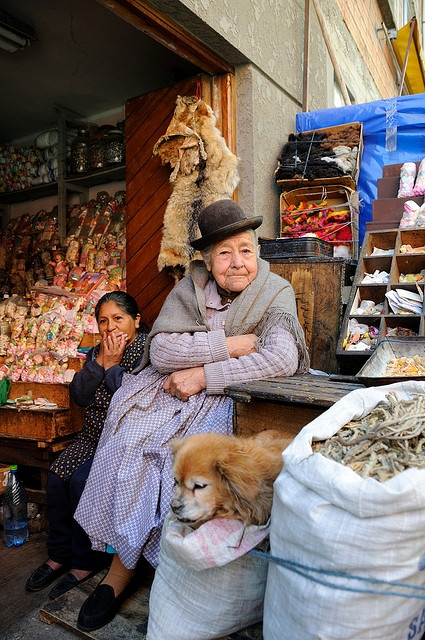 Old lady, the Witches' Market (Mercado de Hechiceria), La Paz, Bolivia by iancowe, via Flickr