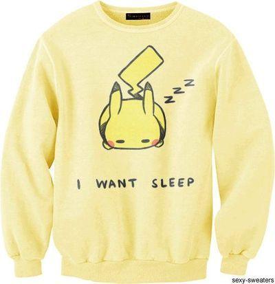 Sleep Deprived Pikachu Sweatshirt