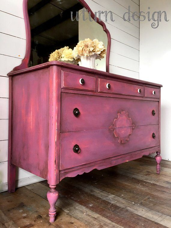 Sold Sold Pink Painted Dresser Farmhouse Painted Dresser Etsy
