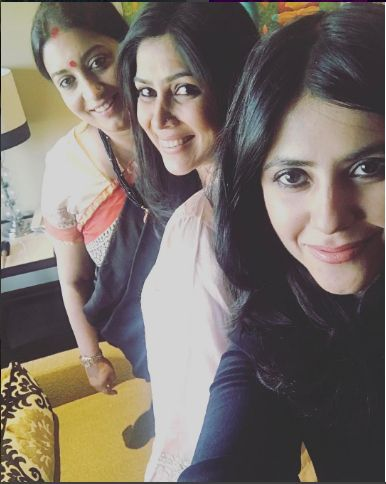 Ekta Kapoor, Smriti Irani and Sakshi Tanwar clicked together in one frame and it is making us very nostalgic #FansnStars