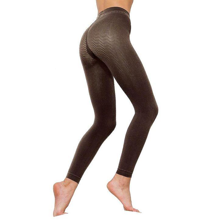 Solidea Silver Wave Long Ladies Compression Leggings [Style 355A5] Nero (Black)  ML
