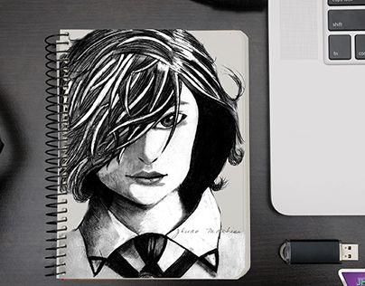 Esse é um desenho sobre estudo de técnica, feito a lápis 6b.This is a drawing on technical study , done in pencil 6b .