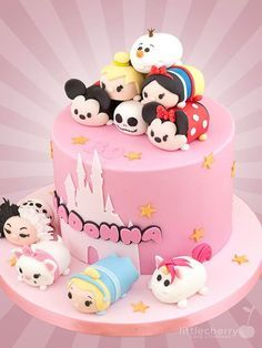 Adorable Disney Tsum Tsum Cake made by Little Cherry Cake Company