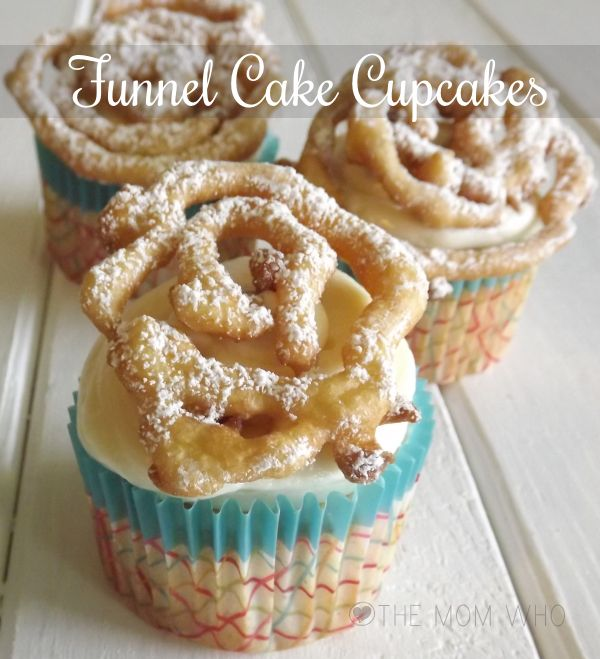 Funnel Cake Cupcakes - bring the nostalgia of the carnival into your home and belly
