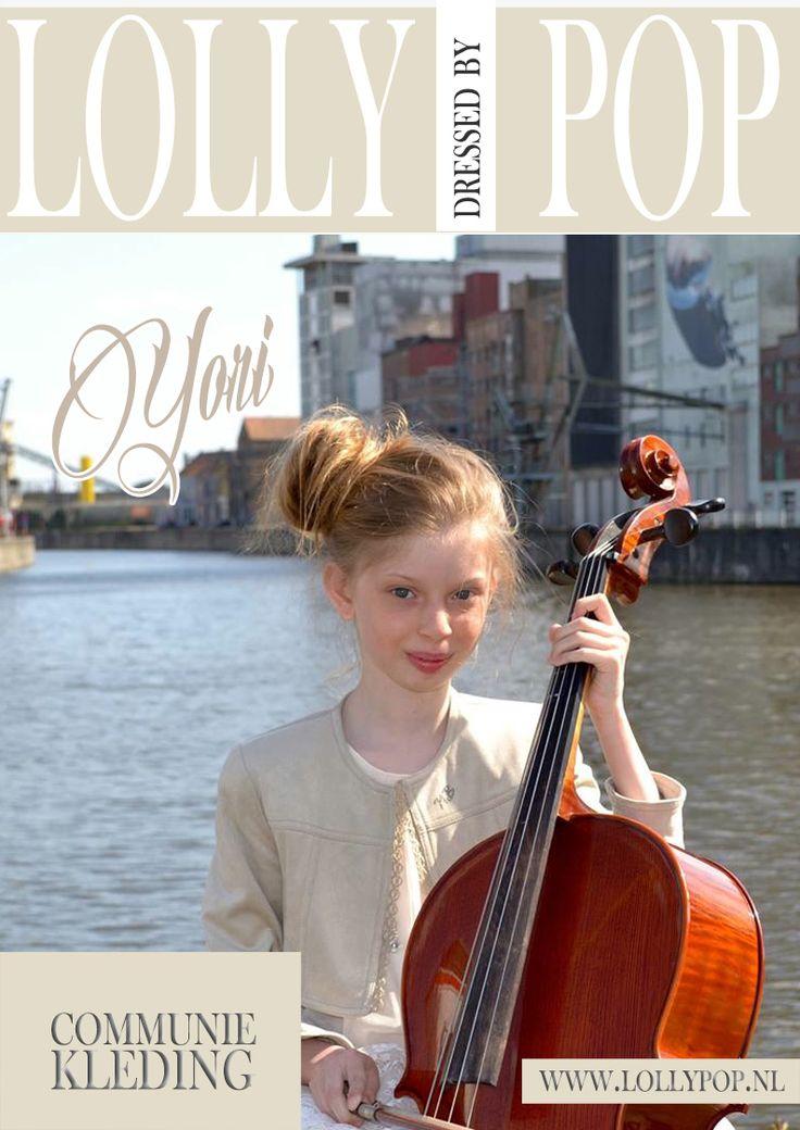 Yori op de dag van haar Vormsel, gekleed voor deze speciale gelegenheid door lollypop.nl