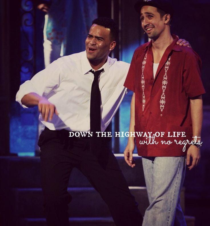 Christopher Jackson and Lin-Manuel Miranda in In The Heights