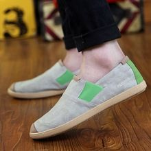 New Alpargatas Canvas Shoes For Men Summer Breathable Fashion Casual Loafers Driving Shoes Slip-On Flats Shoes  High Quality(China (Mainland))