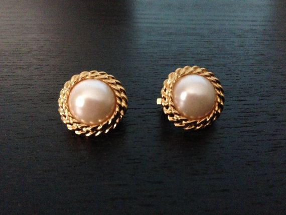 Pearl Earring/  Braided Pearl Earring/ Bridal Jewelry on Etsy, $30.00