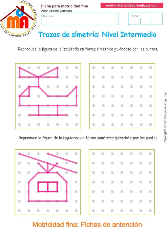 Trazos de simetría: Nivel intermedio 11