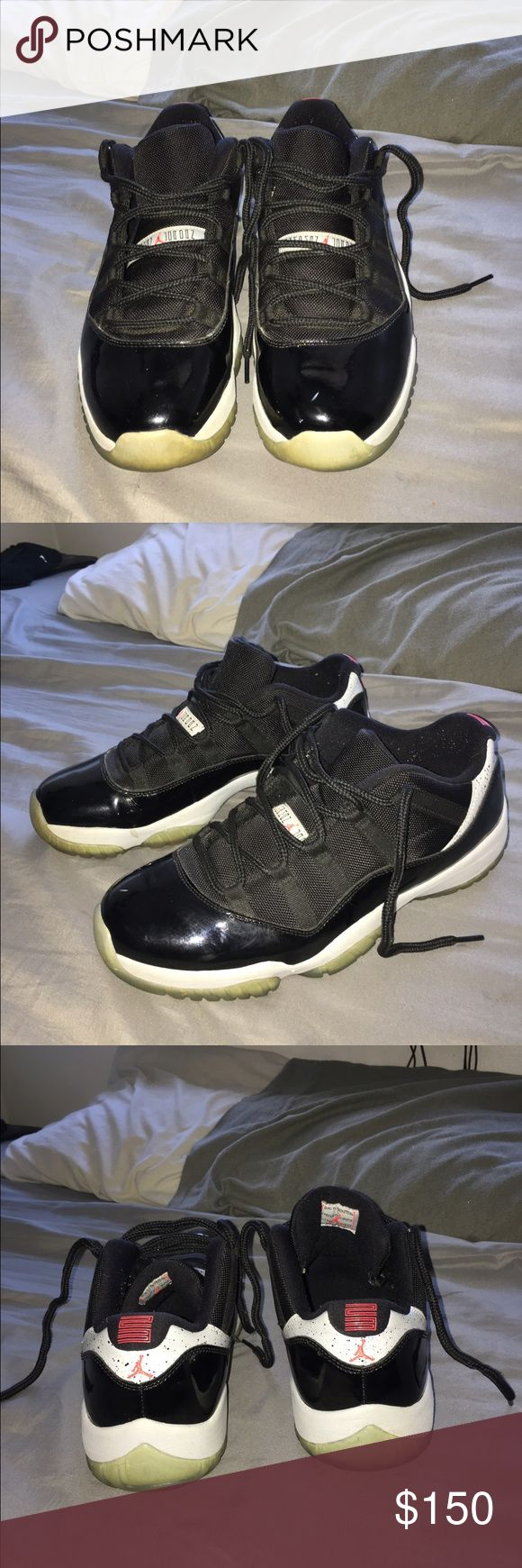 Jordan Retro 11 Low Infrared STILL AVAILABLE Shoes have started to yellow and there is one small mark on the front as seen in pic one and two. Besides that they are in great condition. Willing to negotiate Jordan Shoes Sneakers