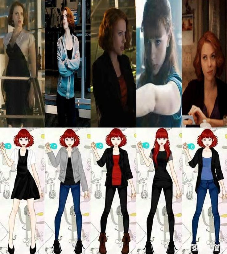 Natasha Romanoff Avengers: Age of Ultron Outfits