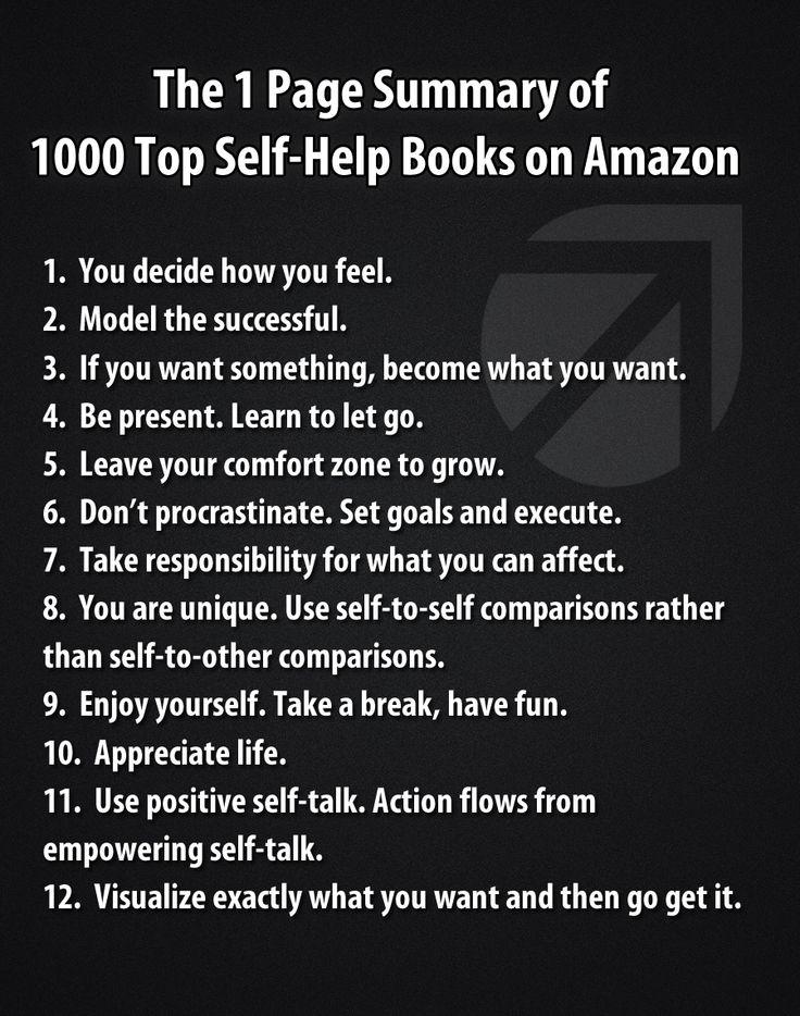 Summary of 1000 #SelfHelp books on 1 Page.