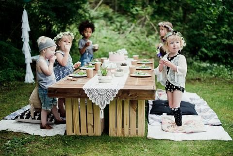 Little & Lively Polkadot Romper Whimsical Woodland Picnic – Little & Lively Photography: @efraserphoto Event Styling: @creativewifeandjoyfulworker Children's Outfit Styling: @littleandlively Outfit Makers: Floral Dress, Triangle Dress, Floral Romper, Polkadot Romper and Gold Bug Tank Top: @littleandlively Lace Toddler Kimonos: @petiteprairiekids Fresh Floral Crowns: @mint.and.moss