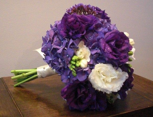 for my bouquet -Purple Wedding Flowers Of Photos