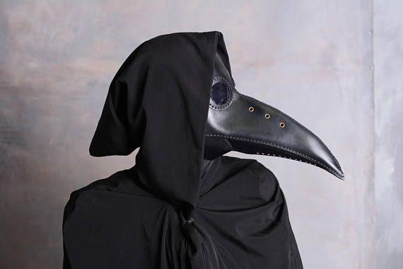 Pest-Doktor Maske Ledermaske Steampunk. Halloweenmaske