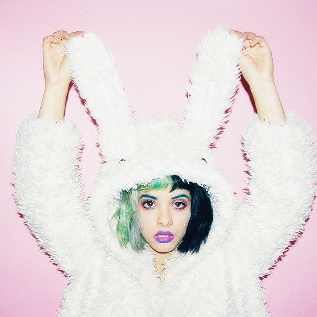 """""""photo by @tancamera  bunny hoodie by @spreepicky  @limecrimemakeup #pansy on my lips and #venus on my eyes"""""""