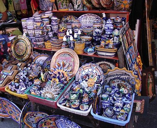 Talavera. The most gorgeous hand-painted pottery ever. Brought a ton of it back home