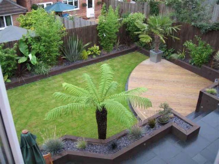 Railway Sleepers.  I have the sleepers but I can't see the rest of the garden resembling this.