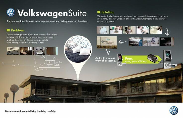 Volkswagen Suite, special hotel rooms around roads only for Volkswagen owner !