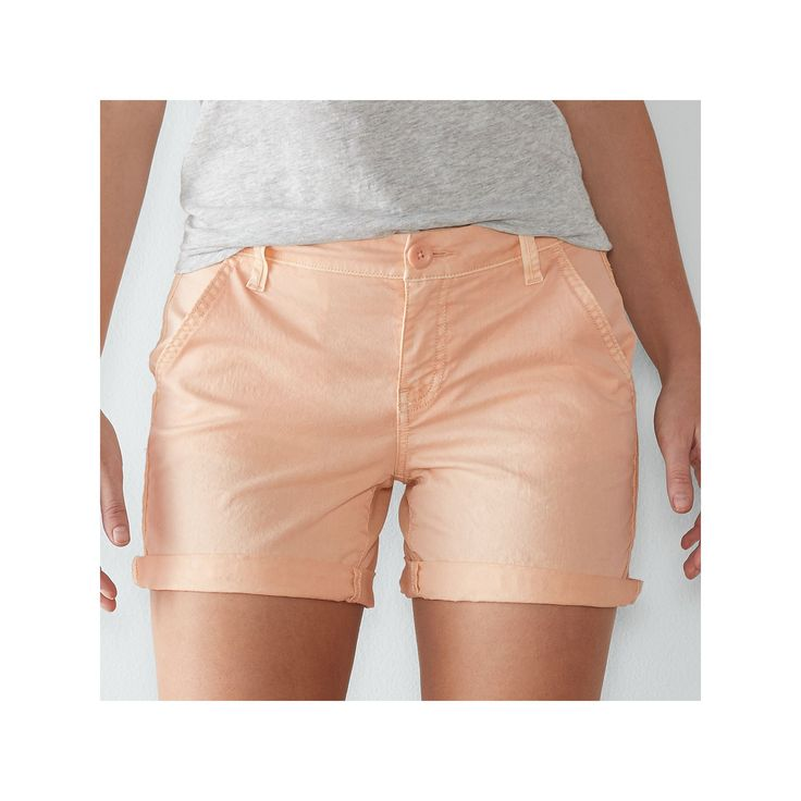 Women's SONOMA Goods for Life™ Color Chino Shorts, Size: 12, Lt Orange