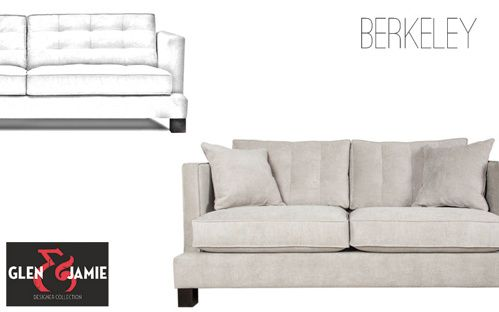 Berkeley Sofa from Glen and Jamie's designer collection #sofa #GlenandJamie #furniture #design