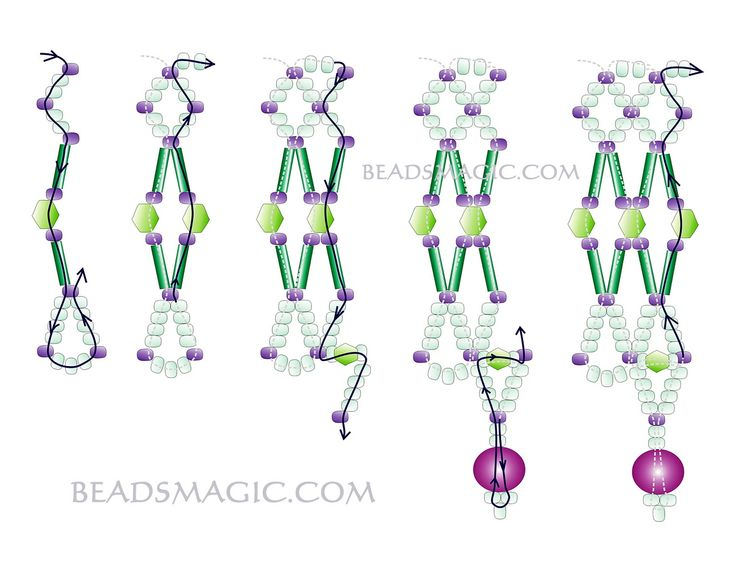 Free patetrn for beaded necklace Wedding | Beads Magic
