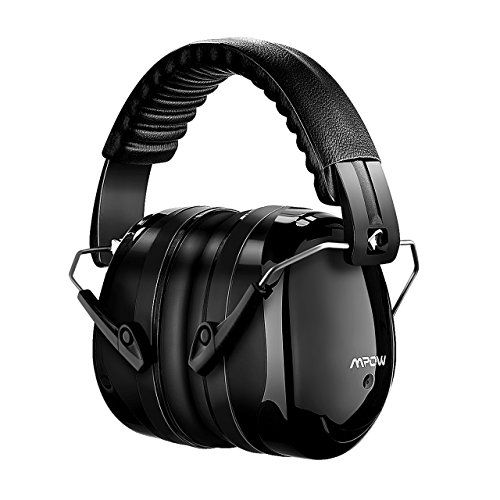 Mpow Noise Reduction Safety Ear muffs SNR 34dB Shooting Hunting Ear Muffs Professional Hearing Protection with a Carrying Bag Adjustable Folding Ear Defenders Fits Adults to Kids for Shooting Range