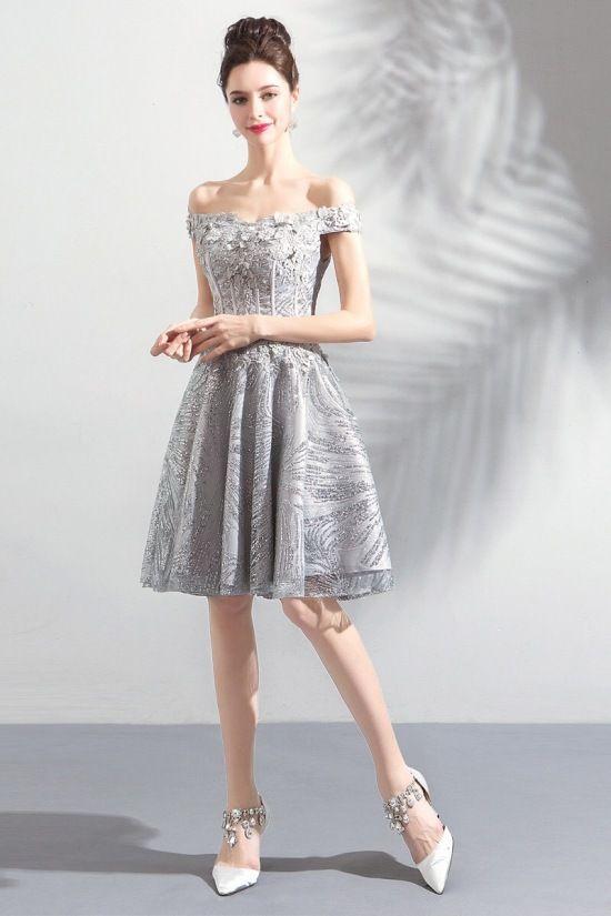 High End Gray Shiny Dress Prom Dress Prom Dresses Prom Dresses