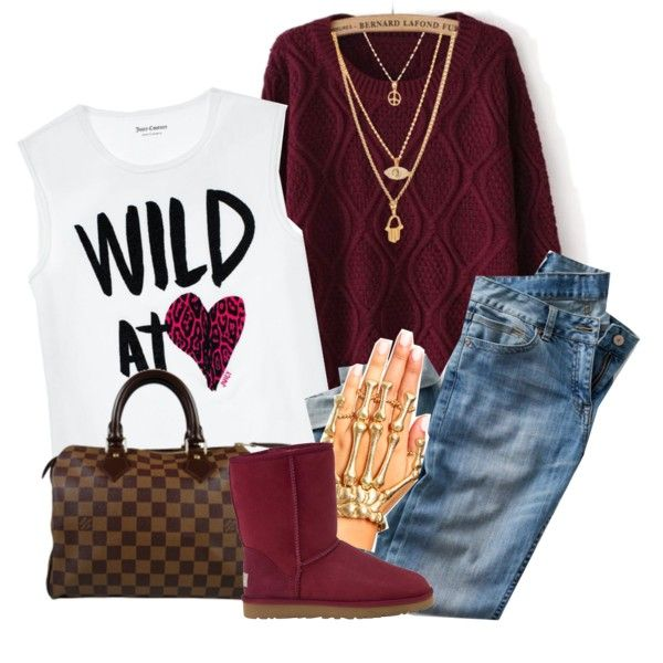 12/29/13 by queenbrittani on Polyvore featuring Juicy Couture, UGG Australia and Louis Vuitton