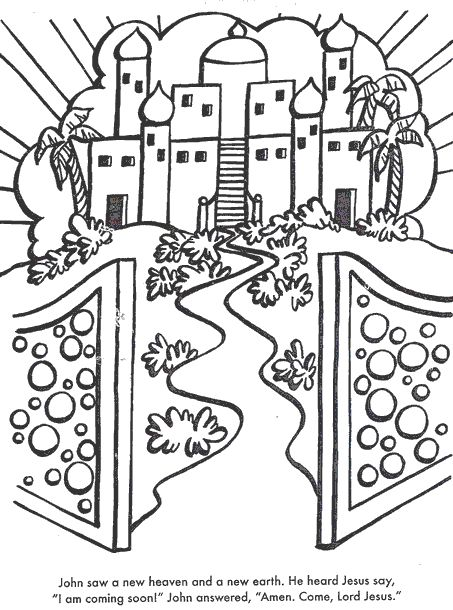 heaven coloring pages A New Heaven And Earth. Use glitter! | Preschool Bible | Pinterest  heaven coloring pages
