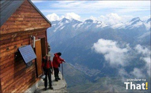 Domek wysoko w górach That.pl -Rozrywka, śmieszne, zabawne zdjęcia